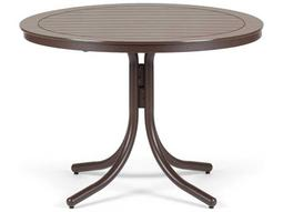 Telescope Casual Marine Grade Polymer 42'' Round Dining Table with Umbrella Hole