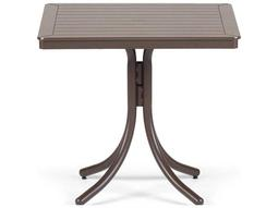 Telescope Casual Marine Grade Polymer 32'' Square  Dining Table with Umbrella Hole