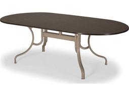 Telescope Casual Marine Grade Polymer 84 x 42 Oval Dining Table with Umbrella Hole
