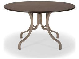 Telescope Casual Marine Grade Polymer 48 Round  Dining Table with Umbrella Hole