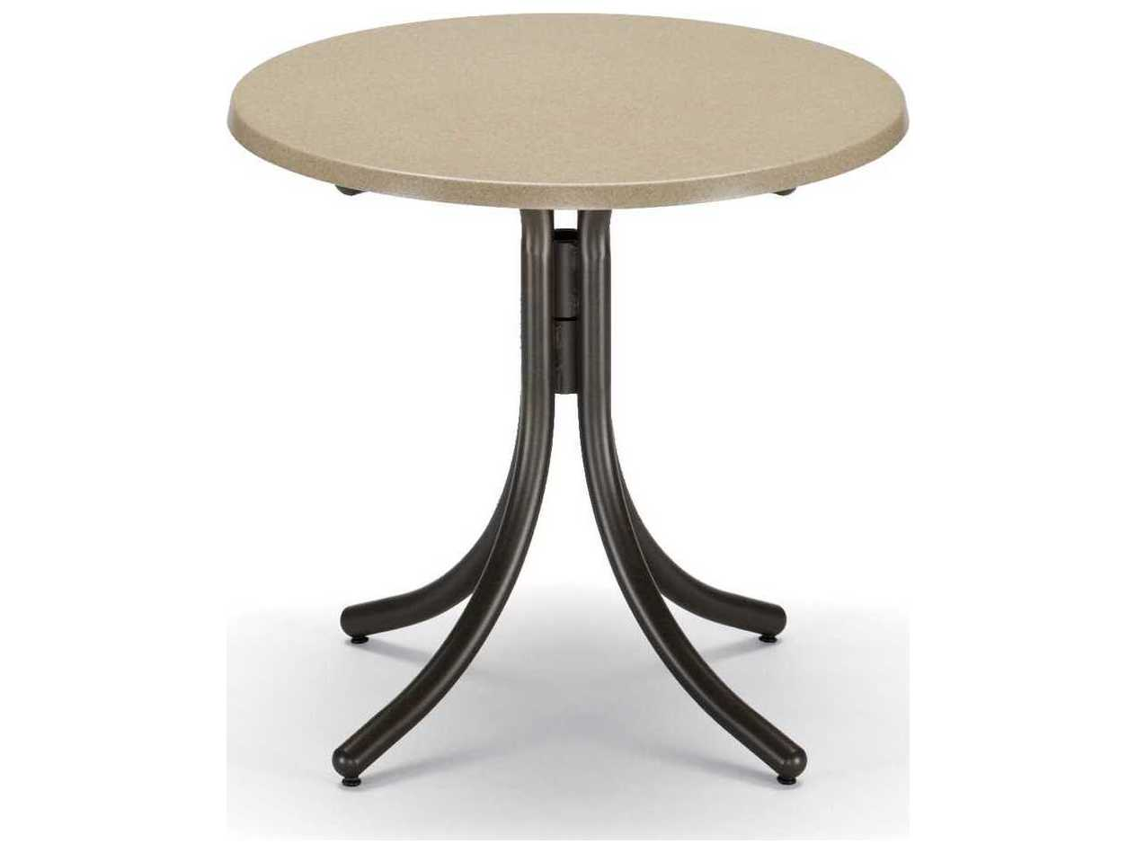 Casual Werzalit Recycled Plastic 30 Round Dining Table WW20DIN