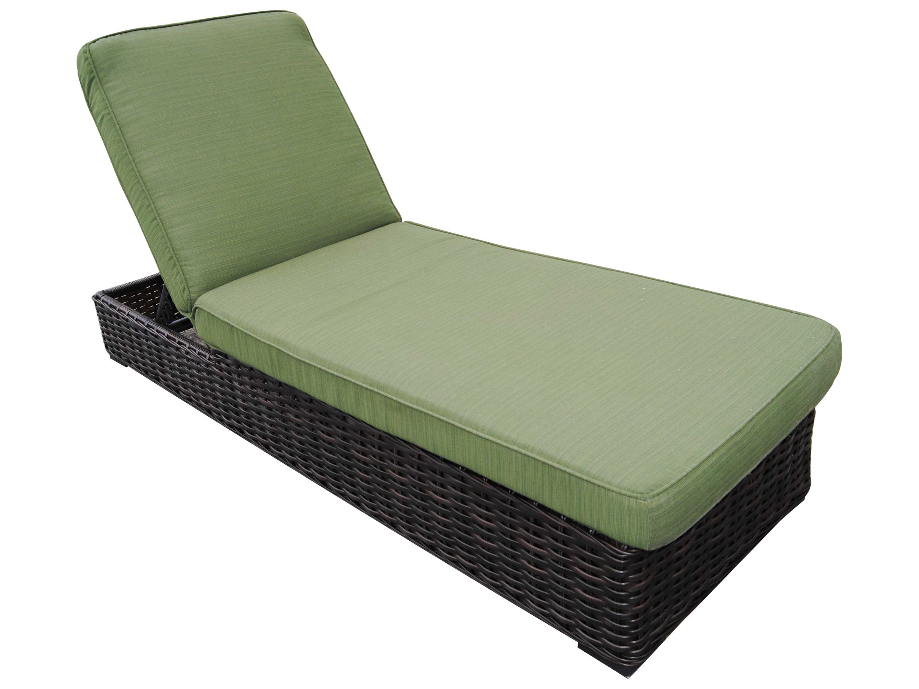 Teva santa monica wicker rattan chaise lounge 105cl for Bamboo chaise lounge