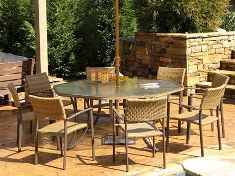 Tortuga Maracay Wicker 8 or more Wicker Casual Patio Dining Set