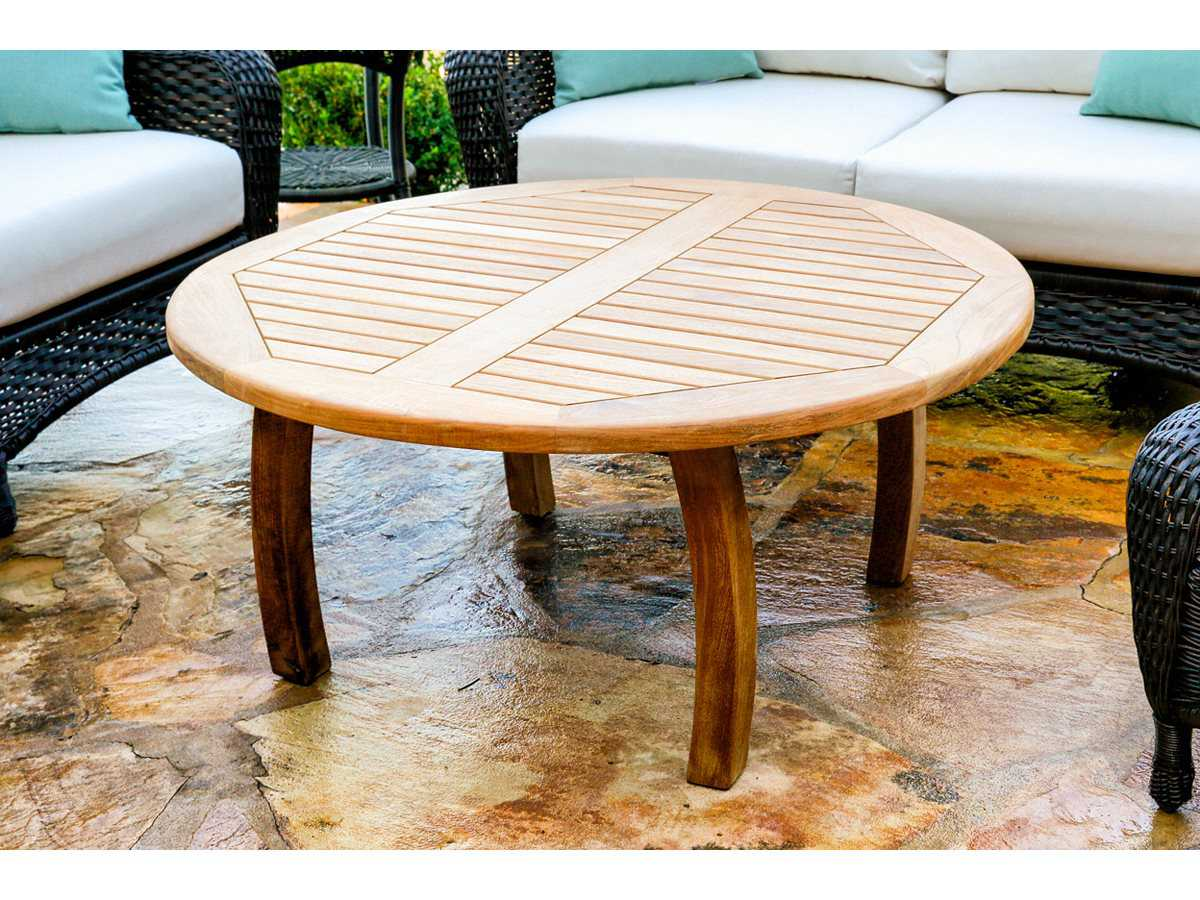 Tortuga Outdoor Jakarta Teak 40 Round Coffee Table Tk R Ct Rnd