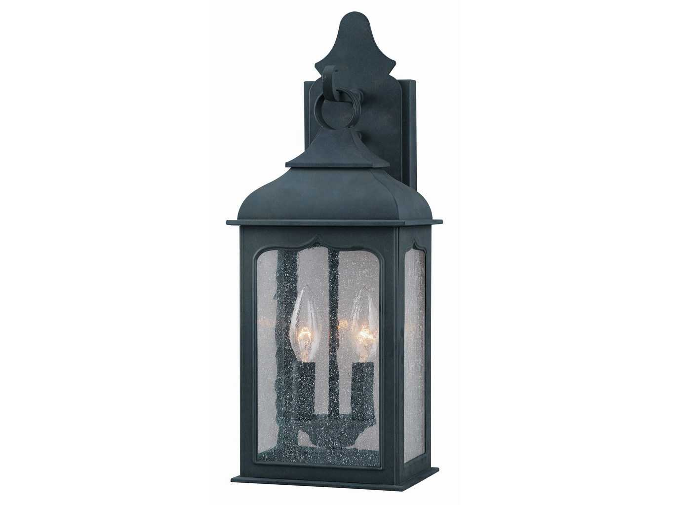 Troy lighting henry street colonial iron two light outdoor for Outdoor colonial lighting