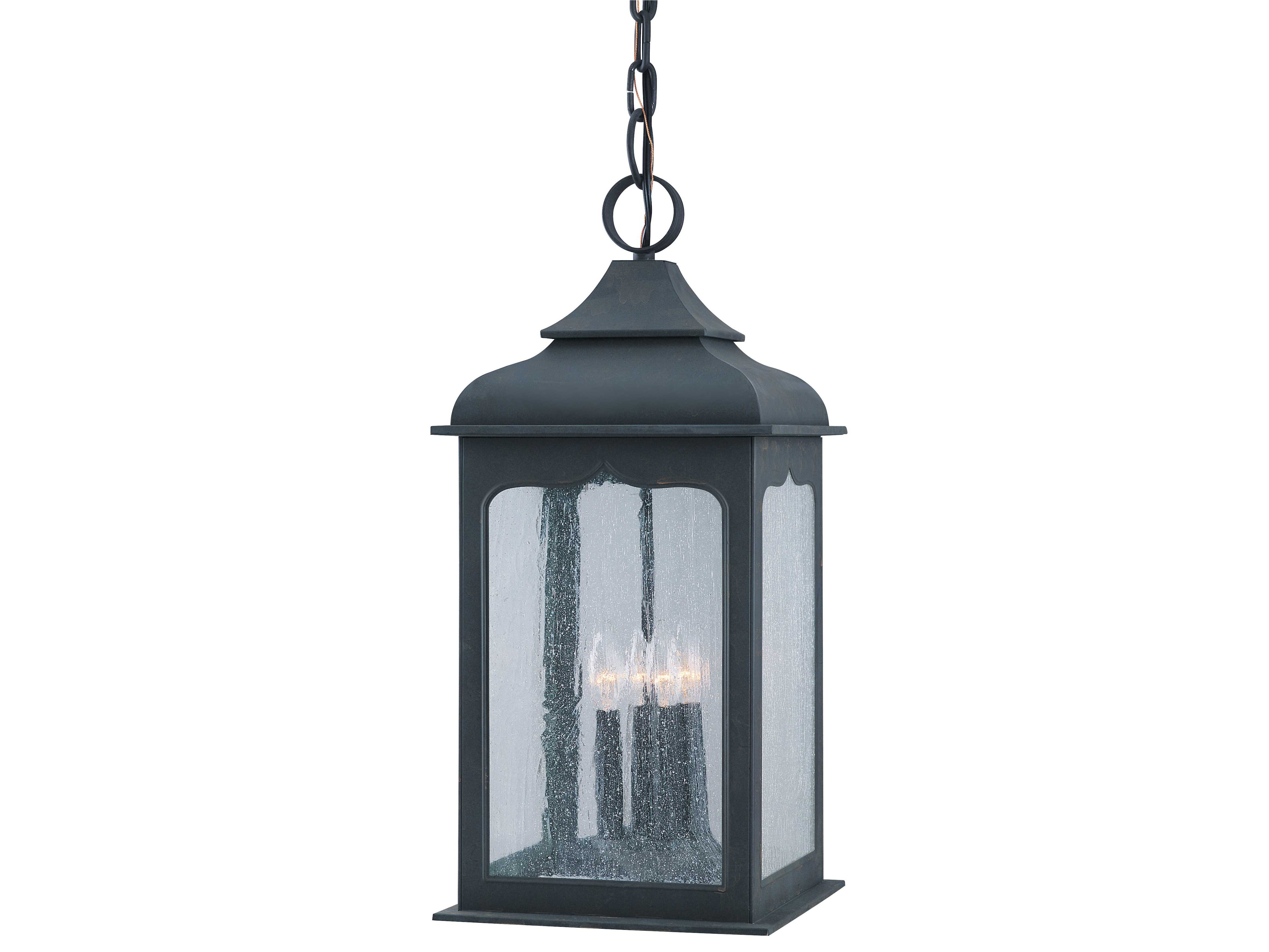 Troy lighting henry street colonial iron four light for Colonial exterior lighting