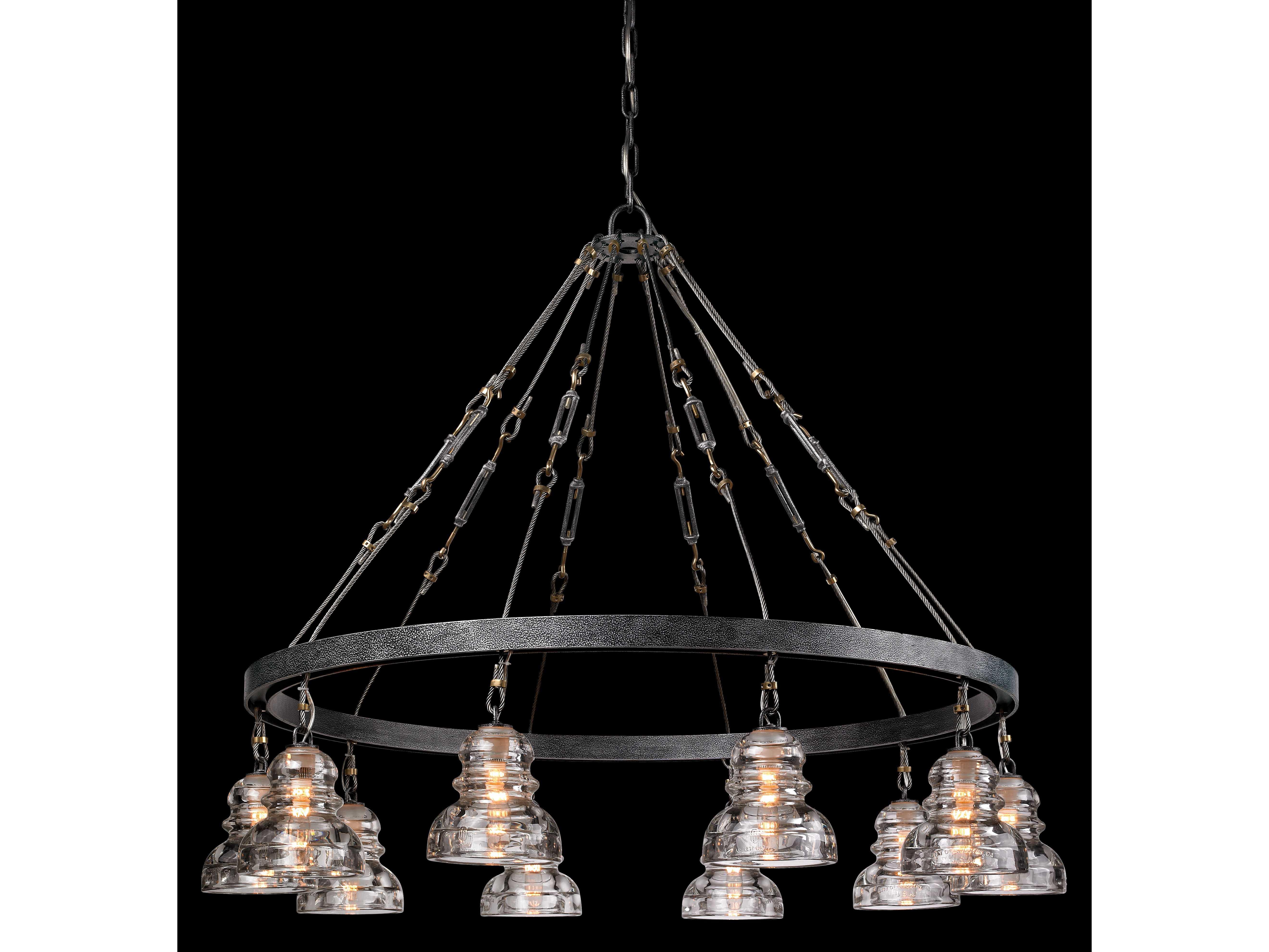 troy lighting menlo park old silver ten light 42 39 39 wide chandelier. Black Bedroom Furniture Sets. Home Design Ideas