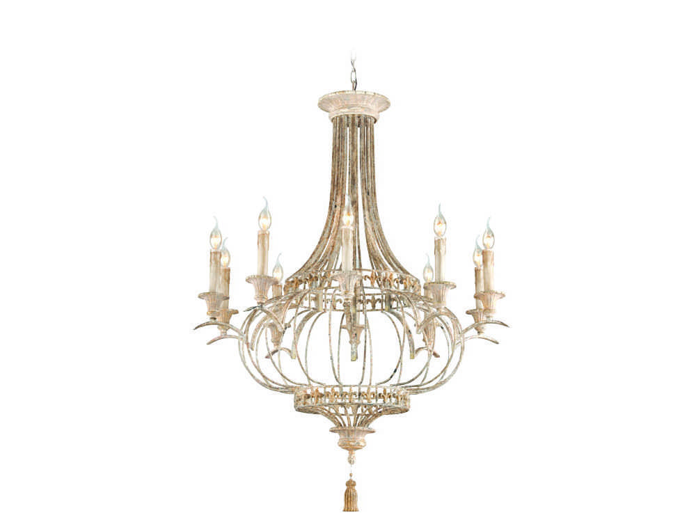 Troy Lighting Chaumont Distressed Difted with Gold Leaf