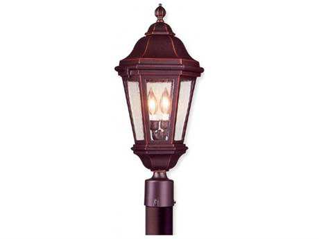 Troy Lighting Verona Matte Black Two-Light Outdoor Post Light