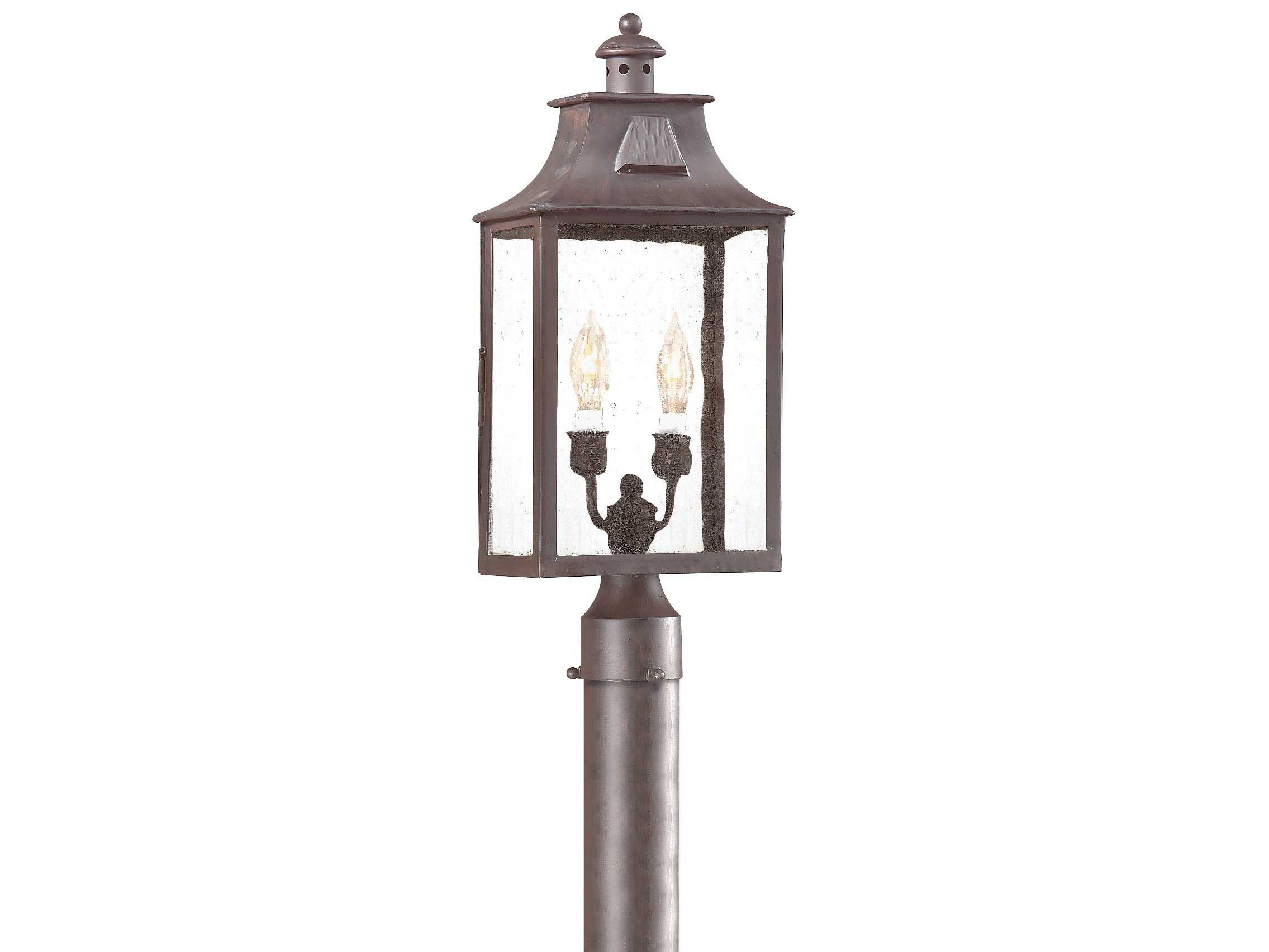 Troy Lighting Newton Old Bronze Two Light Outdoor Post