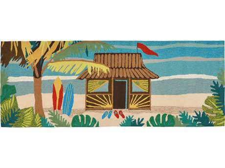 Trans Ocean Frontporch Novelty Hand Made Synthetic Graphic Area Rug - 1536-44-RUN
