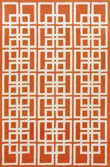 Trans Ocean Capri Modern Orange Hand Made Synthetic Floral/Botanical 2' x 3' Area Rug - CAP23160917