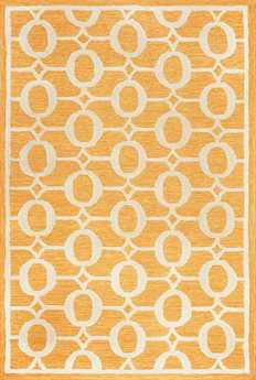 Trans Ocean Spello Modern Orange Hand Made Synthetic Geometric 2' x 3' Area Rug - SLO23211717