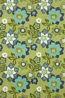 Trans Ocean Ravella Modern Green Hand Made Synthetic Floral/Botanical 2' x 3' Area Rug - RVL23218006