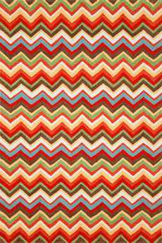 Trans Ocean Ravella Modern Orange Hand Made Synthetic Geometric 2' x 3' Area Rug - RVL23218244