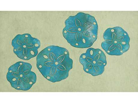 Trans Ocean Visions Iii Transitional Blue Hand Made Synthetic Floral/Botanical Area Rug - 4140-03