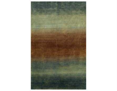 Trans Ocean Karela Modern Blue Hand Made Wool Abstract 3'6