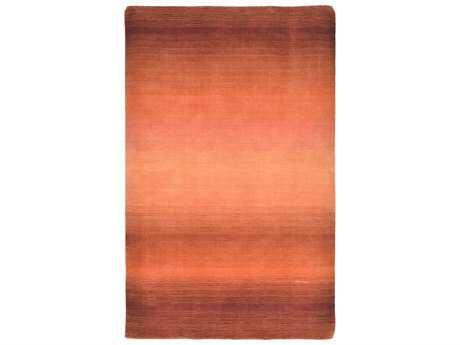 Trans Ocean Vienna Modern Orange Hand Made Wool Abstract 3'6