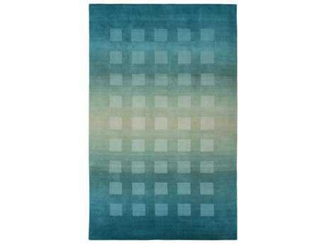 Trans Ocean Vienna Modern Teal Hand Made Wool Geometric 3'6