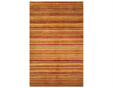 Trans Ocean Petra Transitional Red Hand Made Wool Stripes 3'6