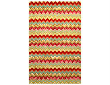 Trans Ocean Seville Modern Red Hand Made Wool Abstract 3'6