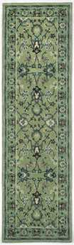 Trans Ocean Petra Traditional Green Hand Made Wool Floral/Botanical Area Rug - 9054-16-RUN