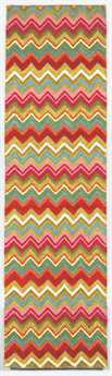 Trans Ocean Seville Modern Red Hand Made Wool Abstract Area Rug - 9666-44-RUN