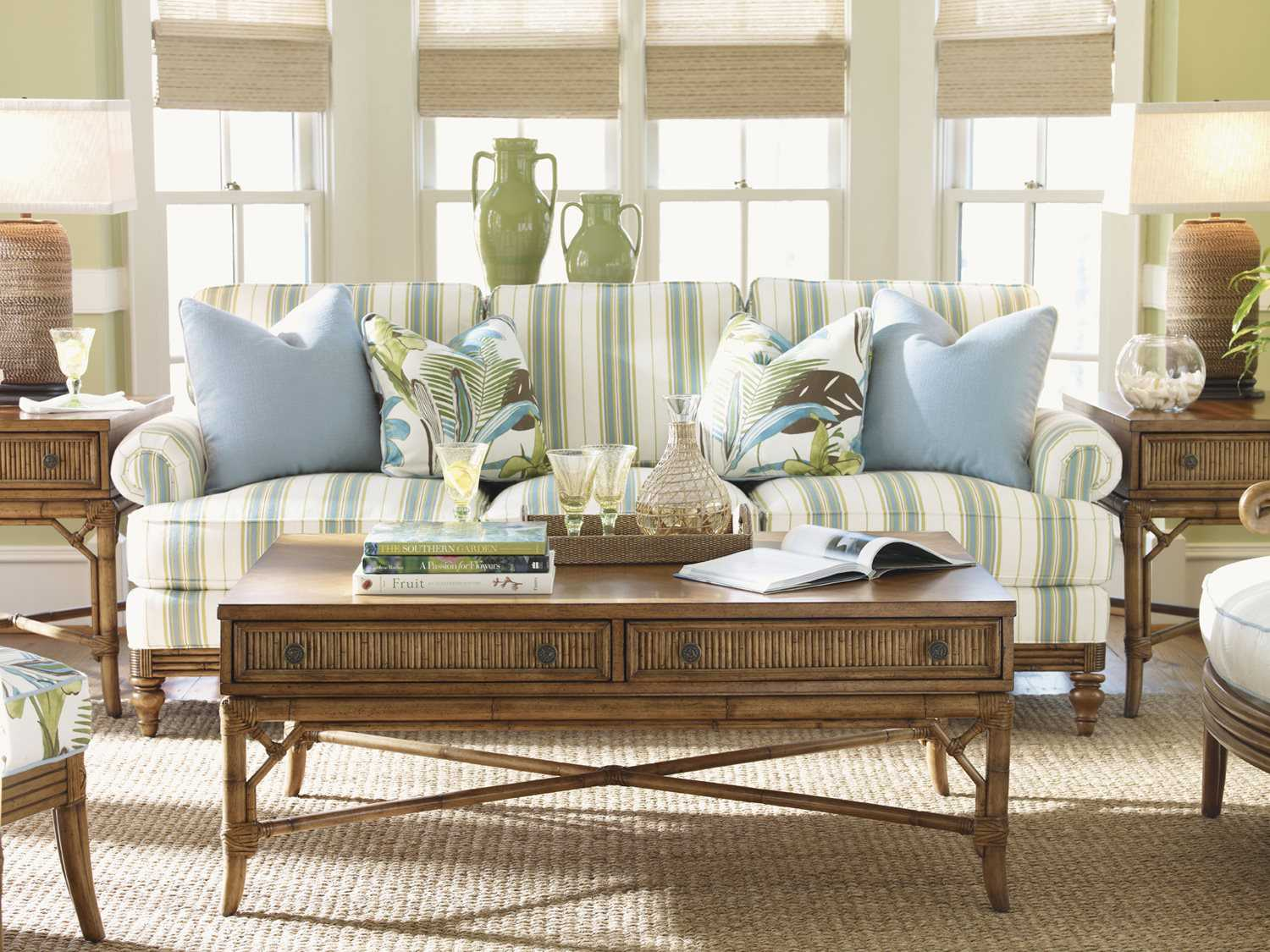 Tommy bahama beach house living room set 1604 33 set2 for Beach style living room furniture