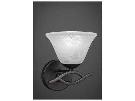 Toltec Lighting Revo Dark Granite with White Marble Glass Wall Sconce