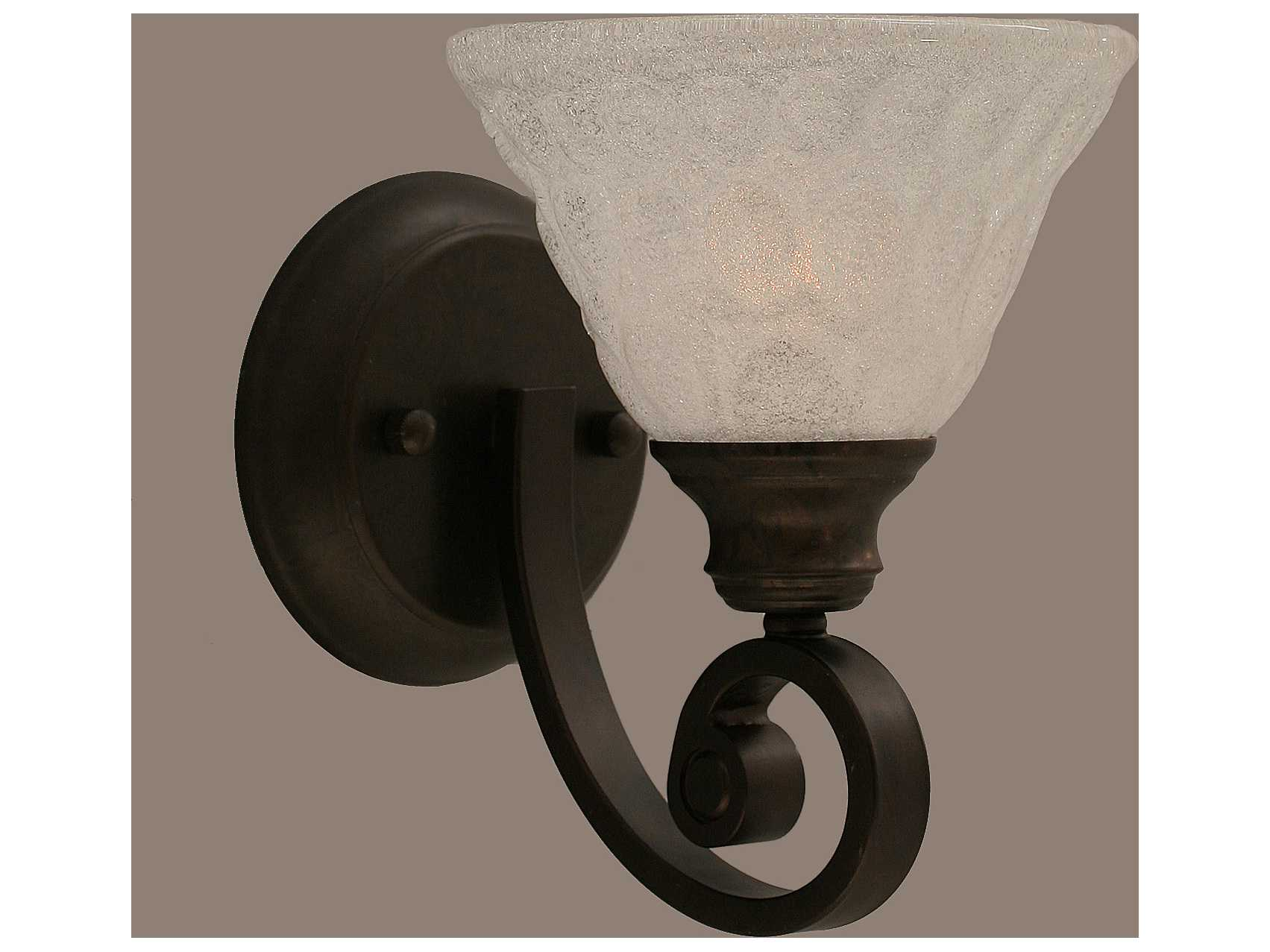 Toltec Lighting Curl Bronze & Italian Bubble Glass Wall Sconce 151-BRZ-451