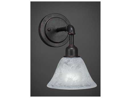 Toltec Lighting Vintage Dark Granite with White Marble Glass Wall Sconce