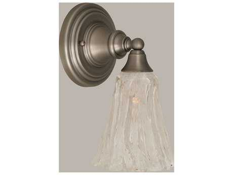 Toltec Lighting Brushed Nickel & Italian Ice Glass Wall Sconce