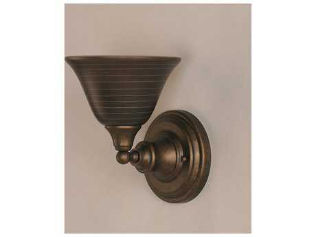 Toltec Lighting Bronze & Charcoal Spiral Glass Wall Sconce