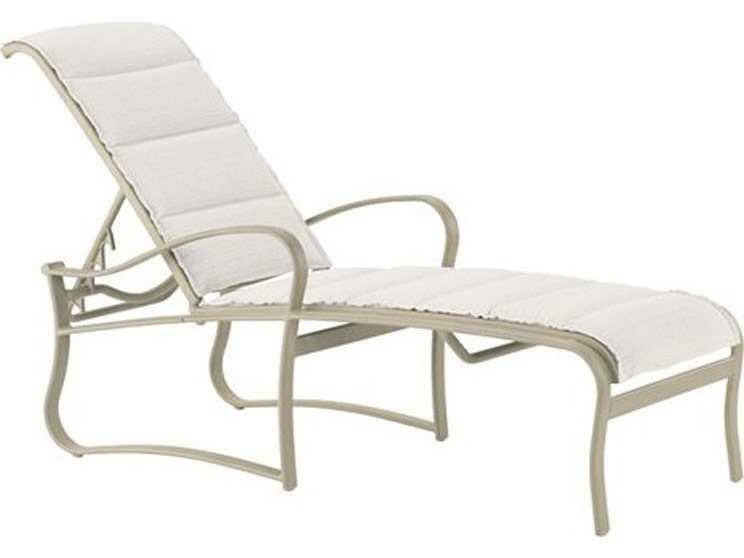 Tropitone shoreline padded sling aluminum chaise lounge for Aluminum sling chaise lounge