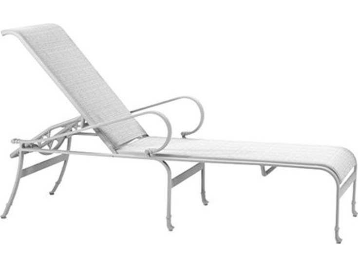 Tropitone torino sling aluminum chaise lounge 150332 for Chaise longue torino