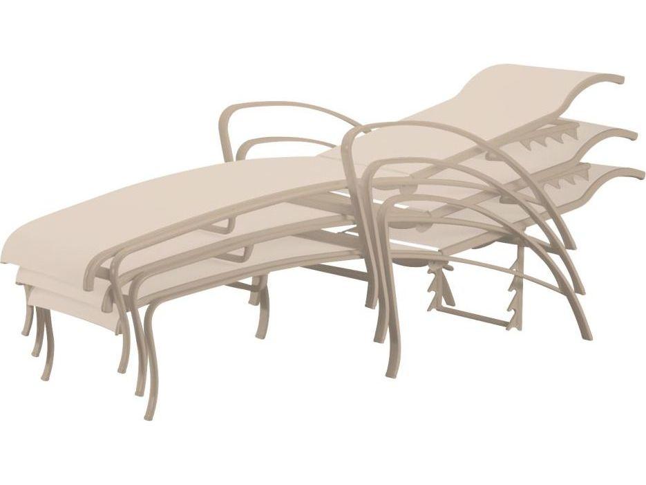 Tropitone spinnaker sling aluminum adjustable chaise for Aluminum sling chaise lounge