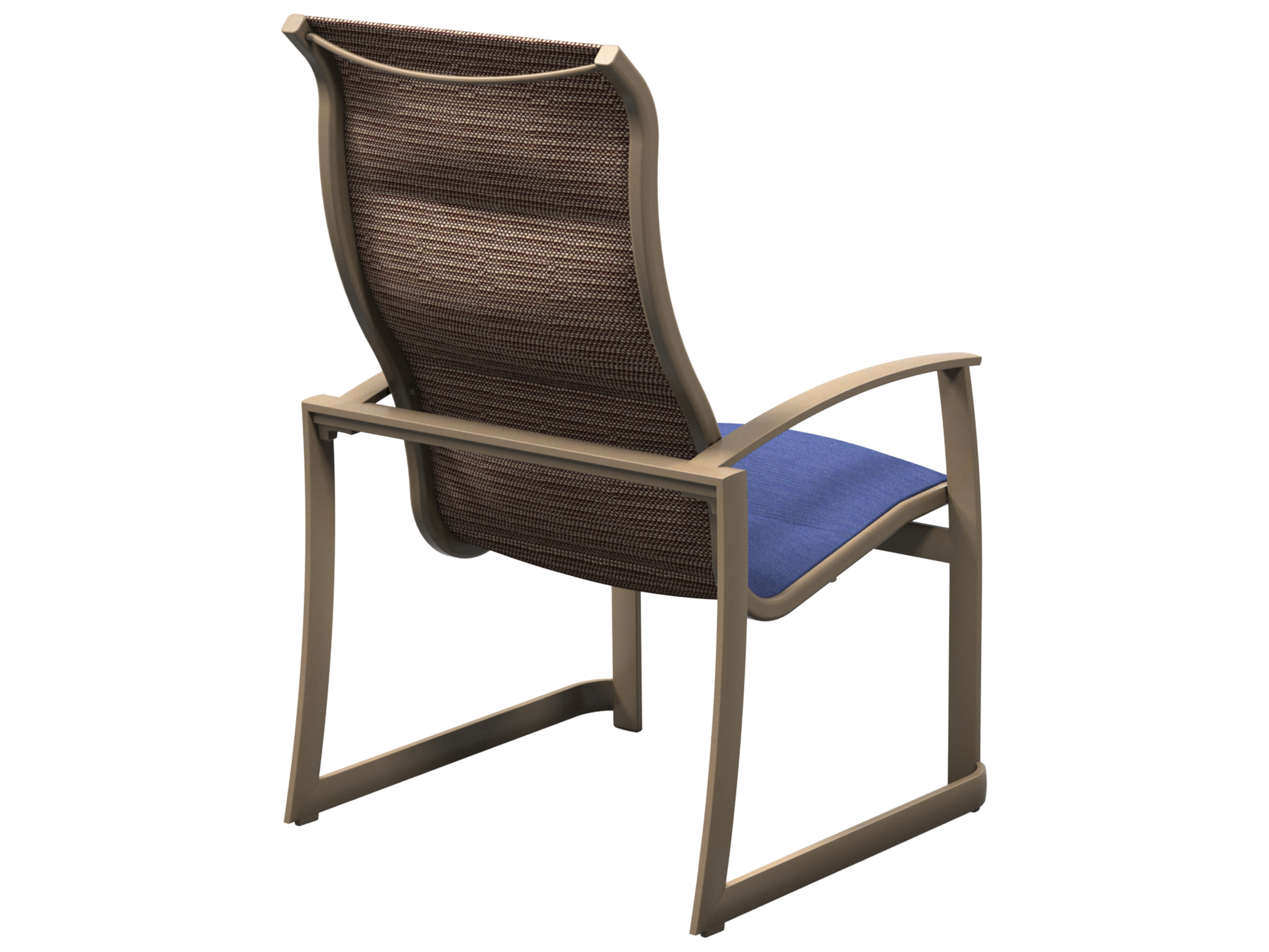 sling aluminum stackable dining chair tp181001ps mainsail padded sling