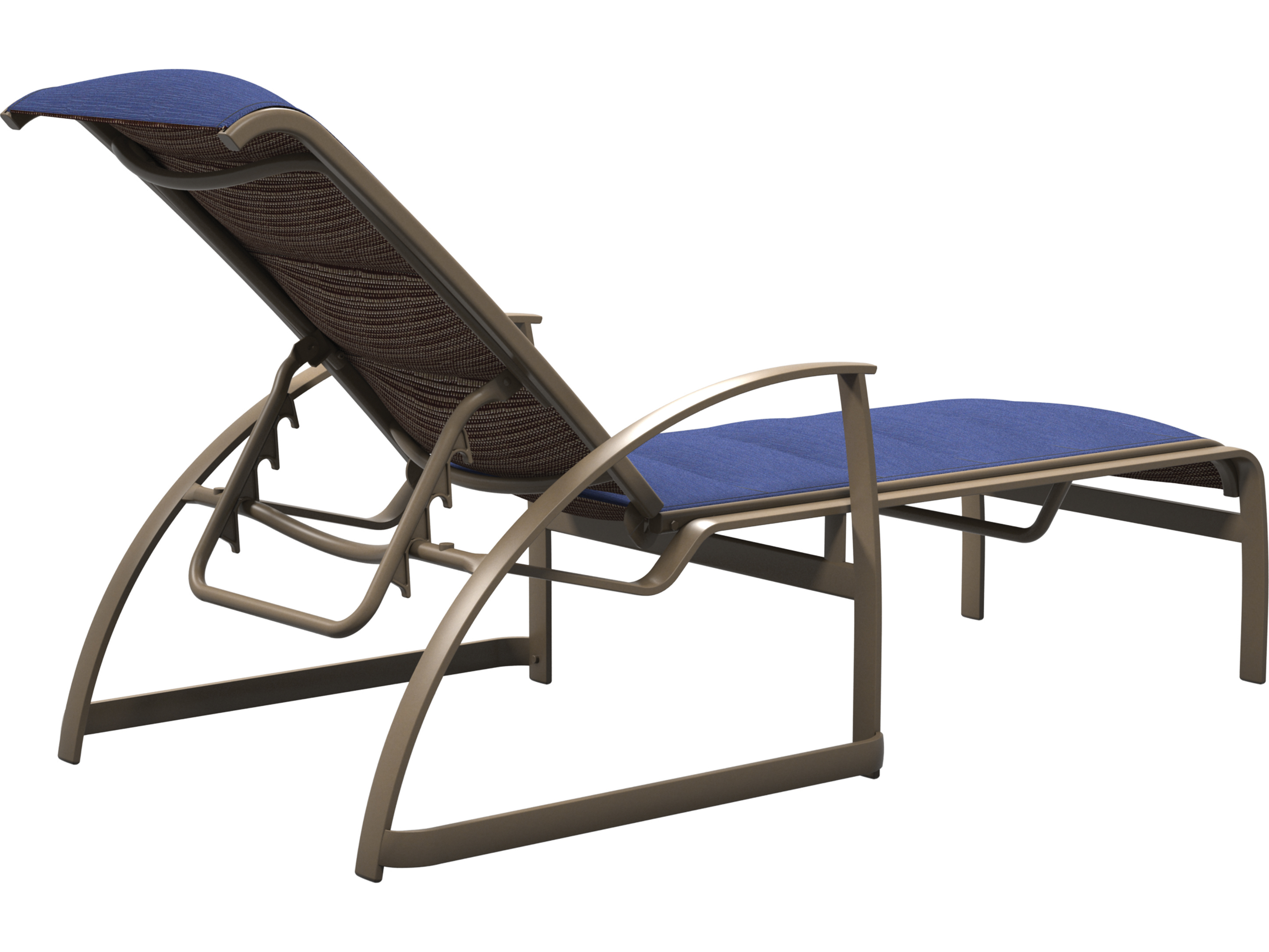 Tropitone Mainsail Padded Sling Aluminum Stackable Chaise