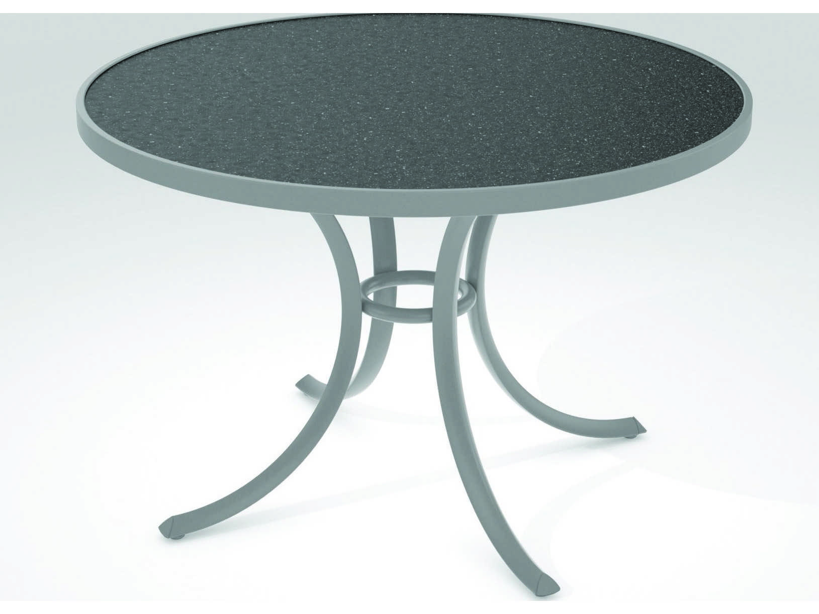Tropitone Hpl Raduno Aluminum 42 Round Dining Table 1842h