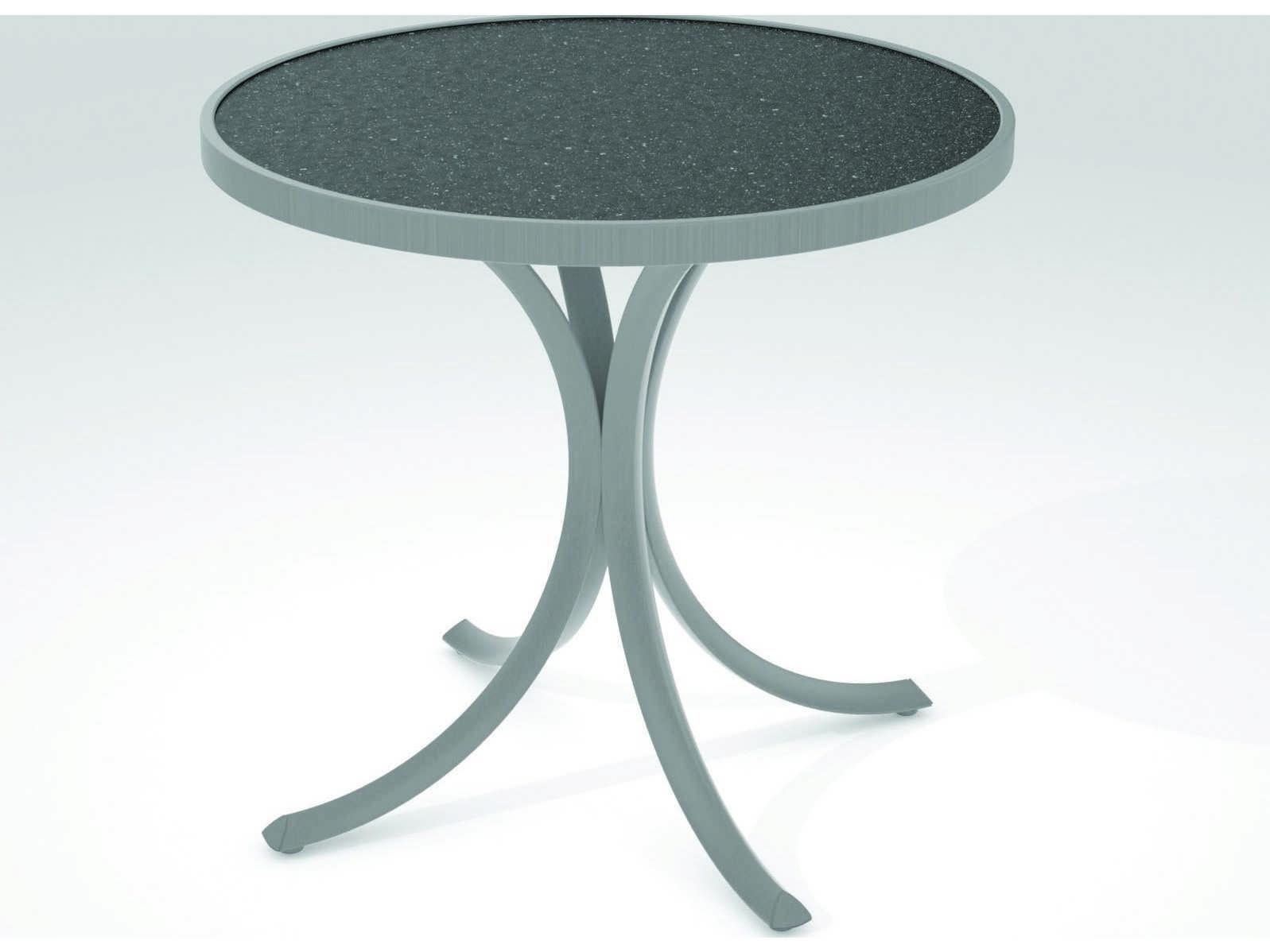 Tropitone Hpl Raduno Aluminum 30 Round Dining Table 1874h