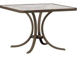 Tropitone Aluminum 36 Square Dining Table with Umbrella Hole