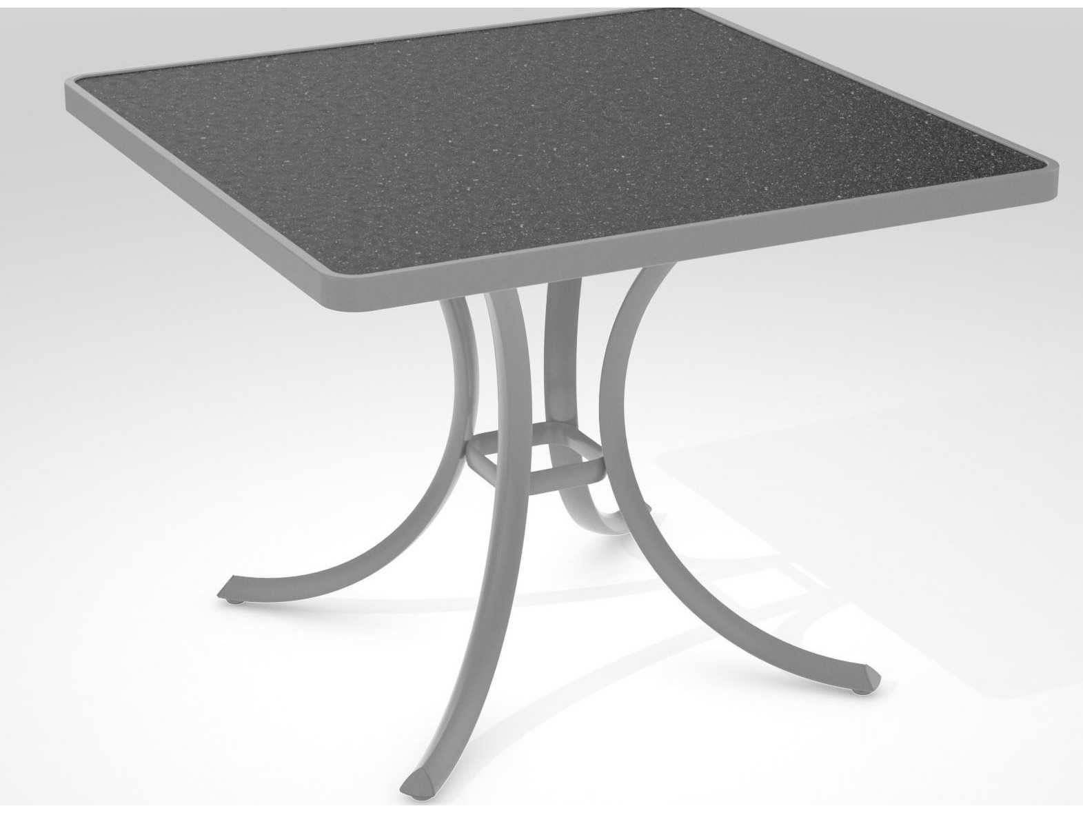 Tropitone Hpl Raduno Aluminum 36 Square Dining Table 1876h