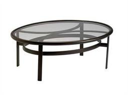 Tropitone Cast Aluminum 49 x 37 Oval Elliptical Clear Top Coffee Table