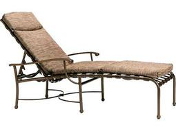 Meadowcraft dogwood wrought iron chaise lounge 7615400 01 for Cast iron chaise lounge