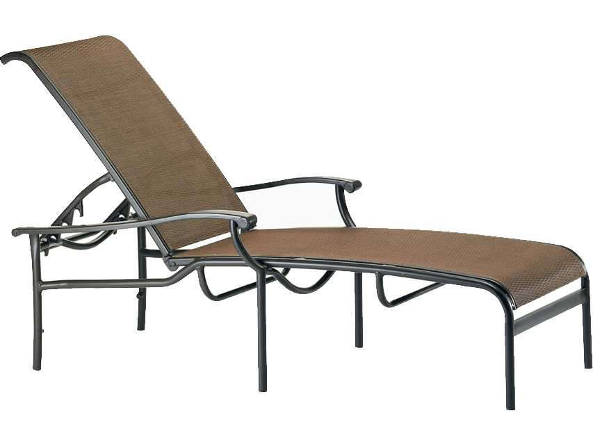 Tropitone sorrento relaxed sling cast aluminum chaise 200832 for Cast aluminum chaise
