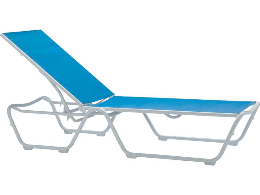 Tropitone millennia relaxed sling aluminum stackable for Aluminum sling chaise lounge