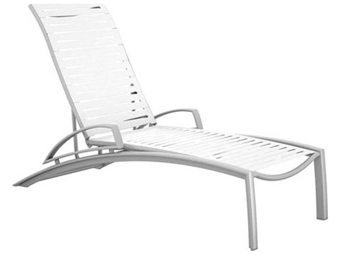 Tropitone south beach ribbon aluminum chaise lounge with for Chaise lounge beach
