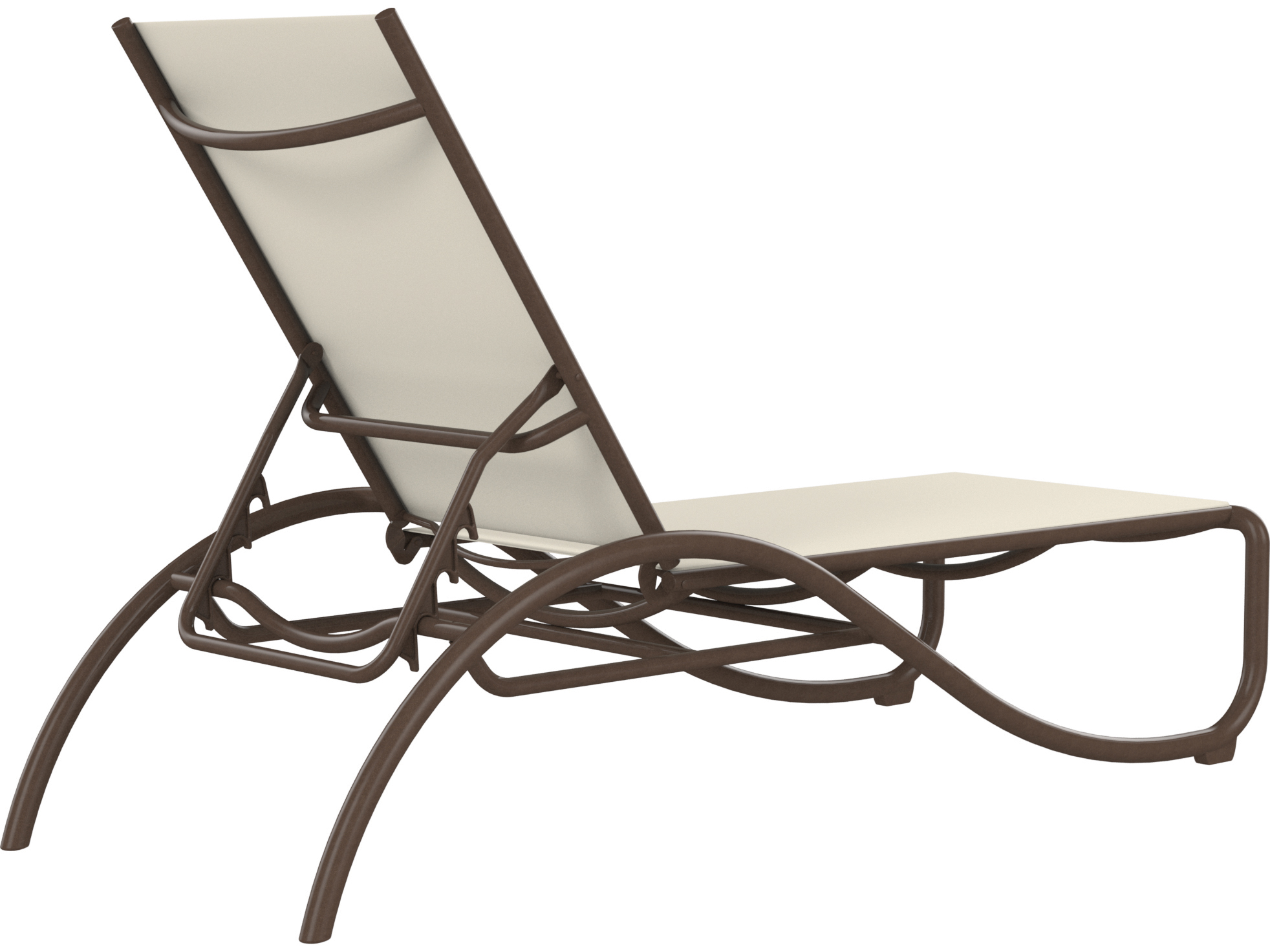Tropitone la scala relaxed sling aluminum stackable chaise for Aluminum sling chaise lounge