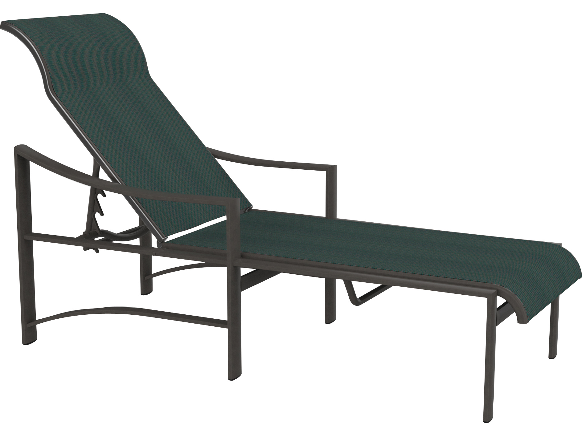 Tropitone kenzo sling aluminum chaise lounge 381532 for Aluminum chaise lounges