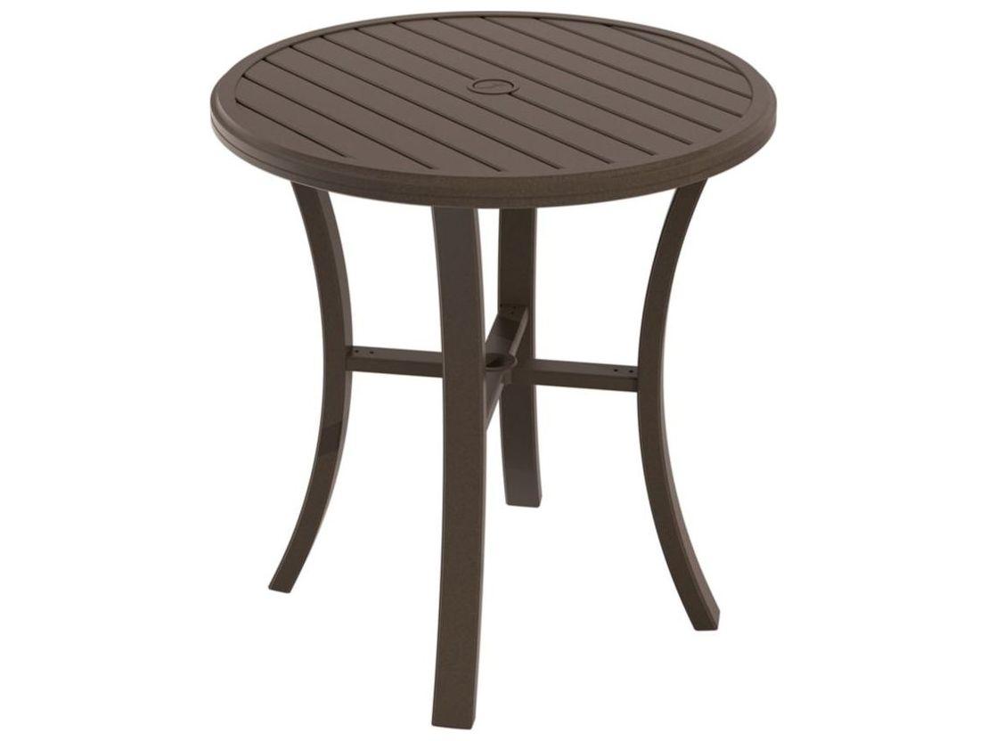 Tropitone Banchetto Aluminum 36 Round Bar Table With